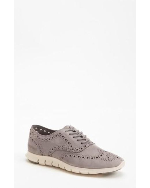 Cole Haan | Gray 'Zerogrand' Perforated Oxford | Lyst