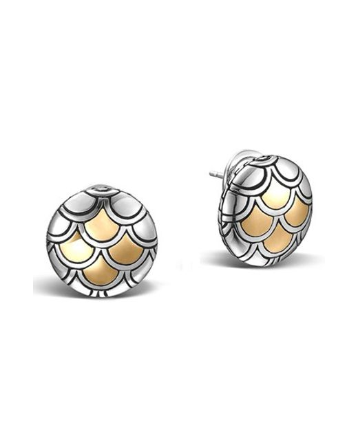 John Hardy | Metallic 'legends' Scale Stud Earrings | Lyst
