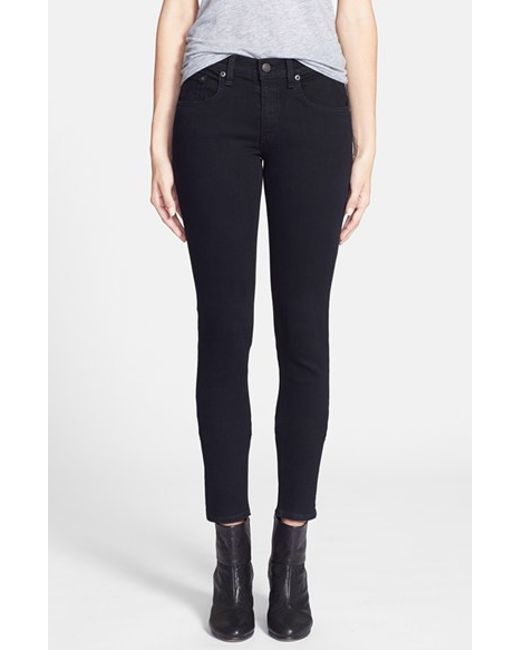 Rag & Bone | Black 'the Skinny' Stretch Jeans | Lyst
