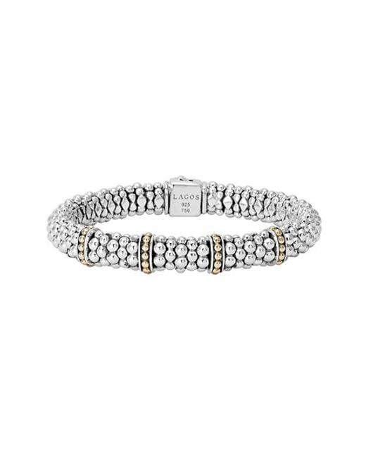 Lagos | Metallic 'enso' Two-tone Rope Caviar(tm) Bracelet | Lyst
