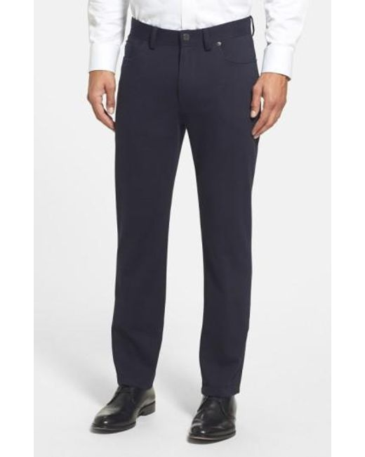 Vince Camuto | Black Sraight Leg Five Pocket Stretch Pants for Men | Lyst