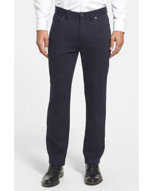 Vince Camuto | Blue Sraight Leg Five Pocket Stretch Pants for Men | Lyst