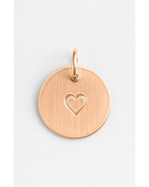 Nashelle   Metallic Heart Stamp Charm   Lyst