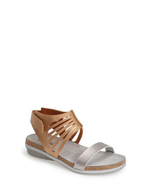 Naot | Metallic 'mint' Sandal | Lyst
