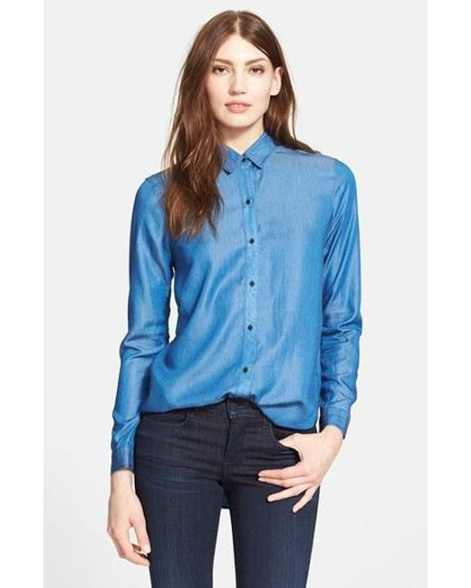Ayr | Blue 'the Clean' Shirt | Lyst