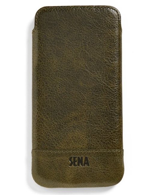 Sena | Green Heritage Ultra Slim Leather Iphone 6/6s Case for Men | Lyst