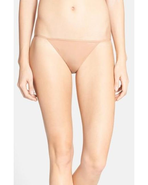 Calvin Klein | Natural 'sleek' String Bikini | Lyst