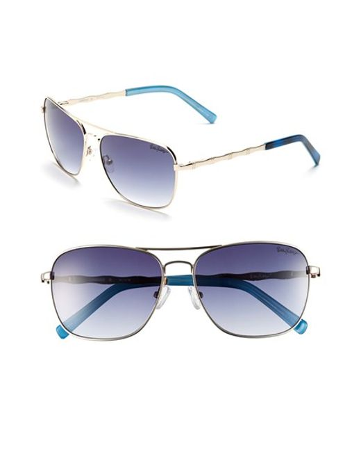 Lilly Pulitzer | Metallic Lilly Pulitzer 'cambridge' 59mm Aviator Sunglasses | Lyst
