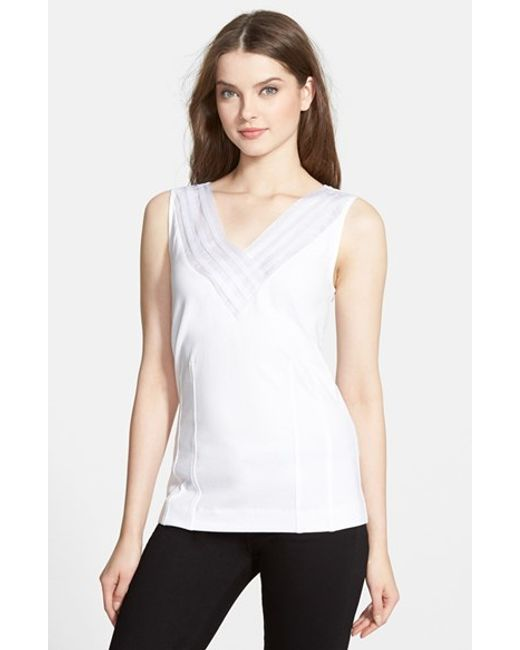 NIC+ZOE | White 'sweet Pleat' Top | Lyst
