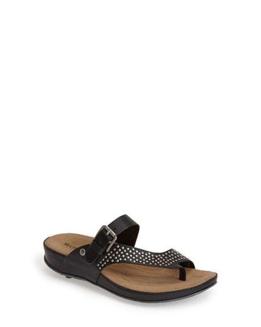 Romika | Black Romika 'fidschi 34' Studded Thong Sandal | Lyst