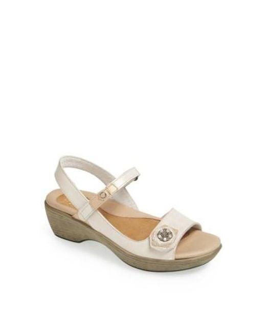 Naot | White 'reserve' Sandal | Lyst
