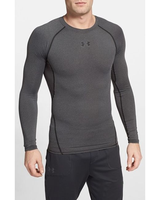 Under Armour | Gray Heatgear Compression Fit Long Sleeve T-shirt for Men | Lyst