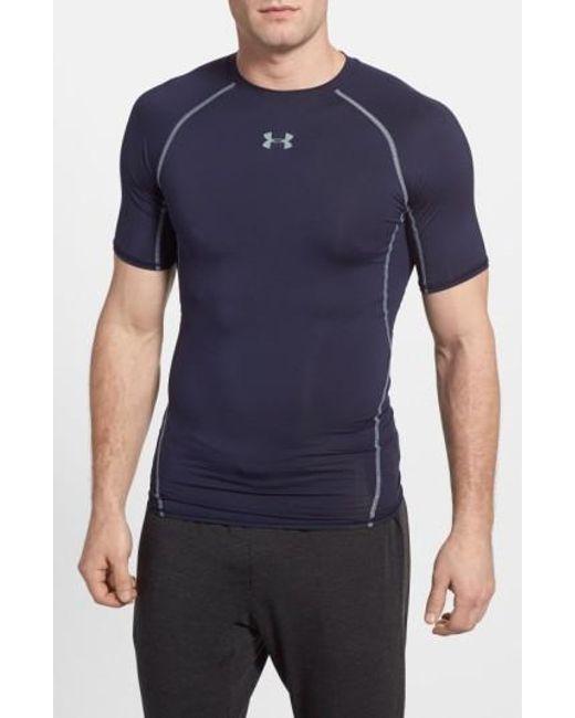 Under Armour   Blue Heatgear Compression Fit T-shirt for Men   Lyst