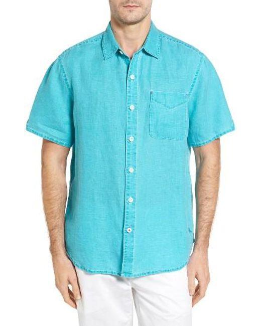 Tommy Bahama   White 'seaglass Breezer' Short Sleeve Linen Sport Shirt for Men   Lyst