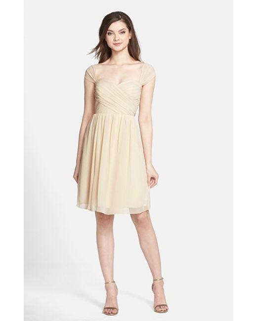 Jenny Yoo | Natural 'riley' Convertible Chiffon Dress | Lyst