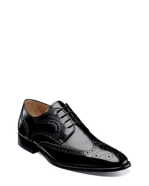 Florsheim | Black 'sabato' Wingtip for Men | Lyst