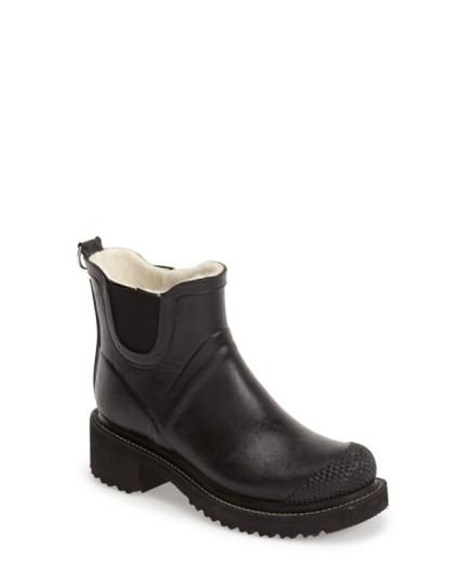 Ilse Jacobsen   Black Hornbaek 'rub 47' Short Waterproof Rain Boot   Lyst