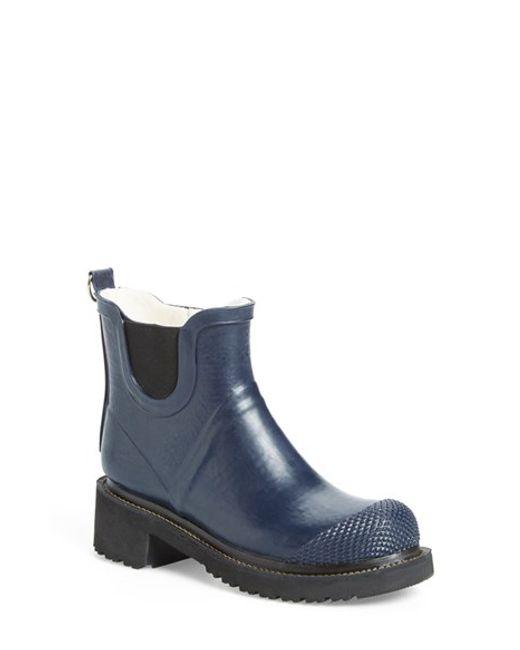 Ilse Jacobsen | Blue Hornbaek 'rub 47' Short Waterproof Rain Boot | Lyst