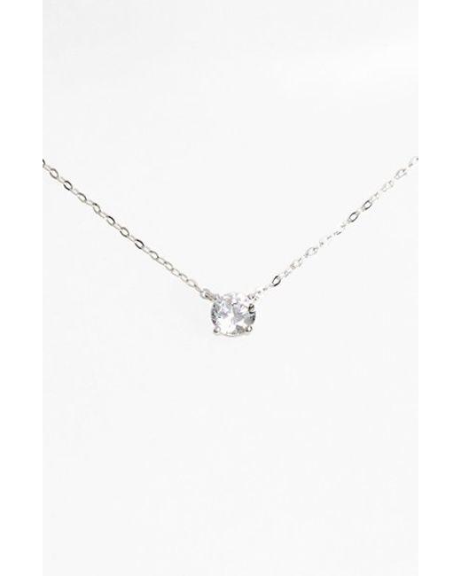 Nadri | Metallic Cubic Zirconia Pendant Necklace | Lyst