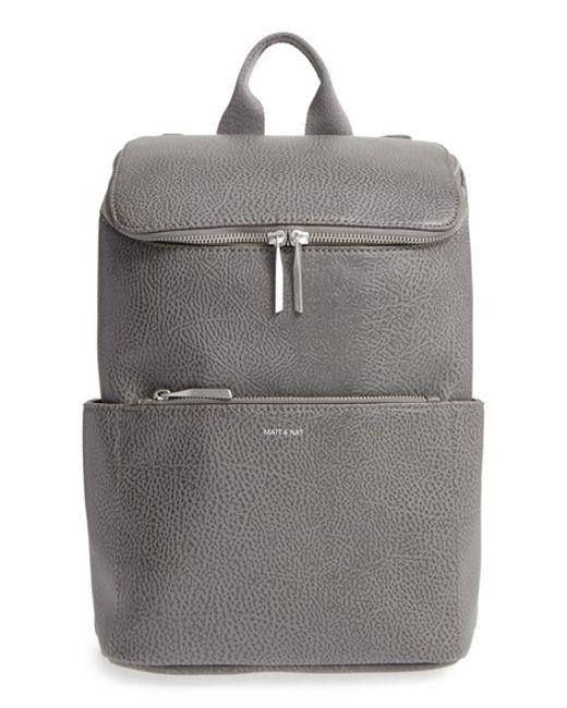 Matt & Nat | Black 'brave' Vegan Leather Backpack | Lyst