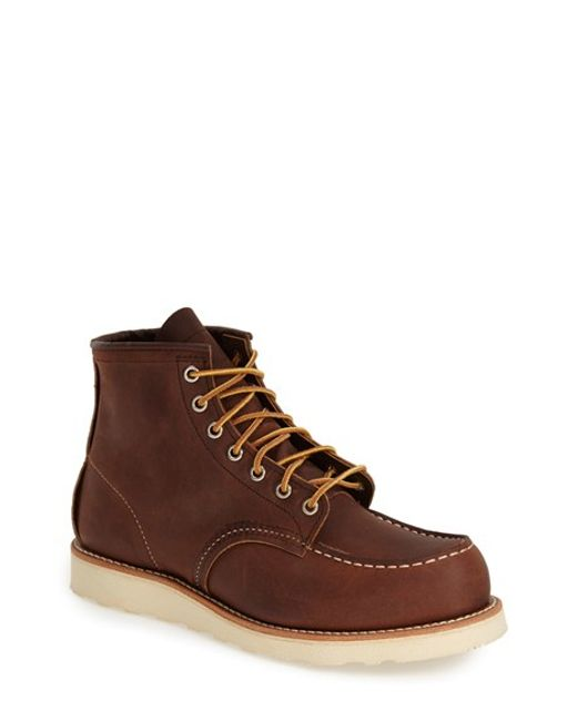 Red Wing | Brown 6-inch Moc Leather Boots for Men | Lyst