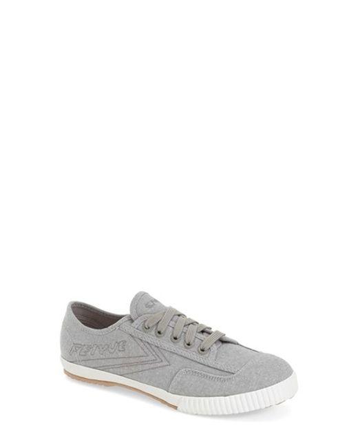 Feiyue | Gray 'fe Lo Plain' Chambray Sneaker | Lyst