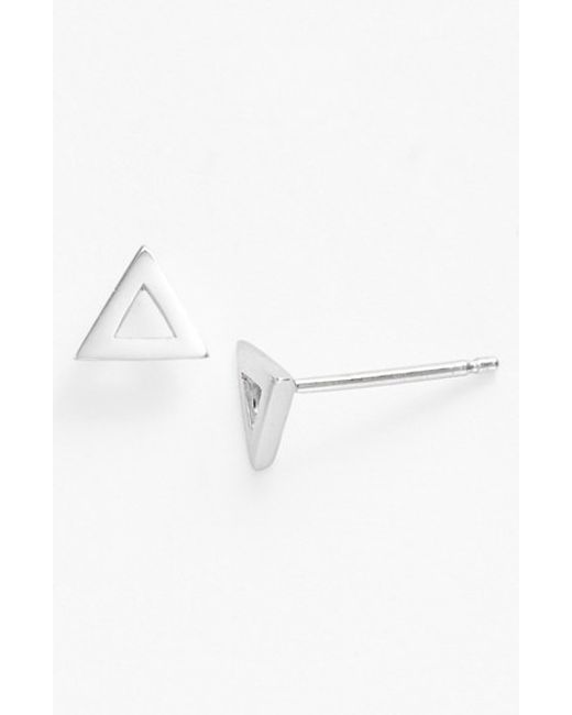 Bony Levy | White Triangle Stud Earrings (nordstrom Exclusive) | Lyst