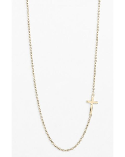 Bony Levy | Metallic Cross Station Necklace (nordstrom Exclusive) | Lyst