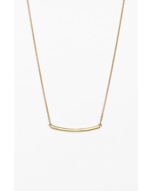 Bony Levy | Metallic Bar Pendant Necklace (nordstrom Exclusive) | Lyst