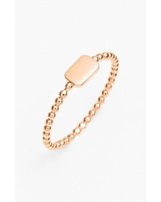 Bony Levy | Pink 14k Gold Rectangle Ring (nordstrom Exclusive) | Lyst