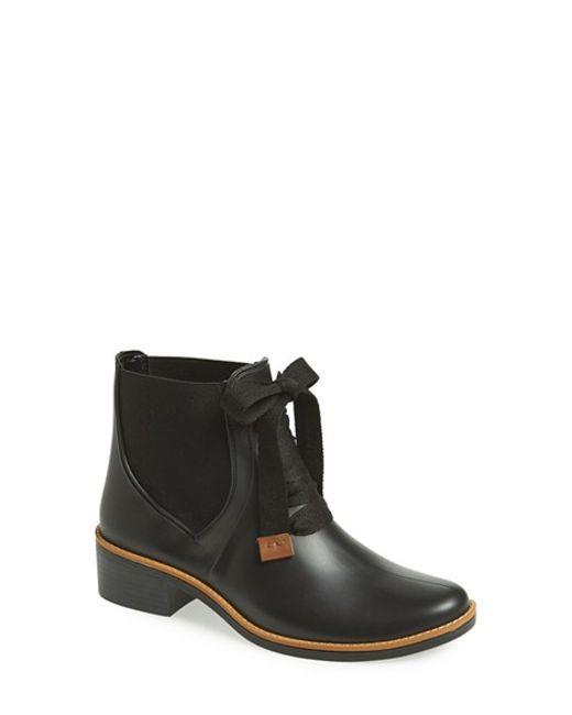 Bernardo | Black 'Lacey' Short Waterproof Rain Boot | Lyst
