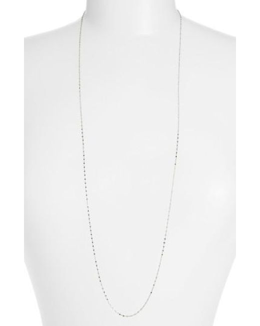 Bony Levy   White Beaded Chain Long Necklace (nordstrom Exclusive)   Lyst