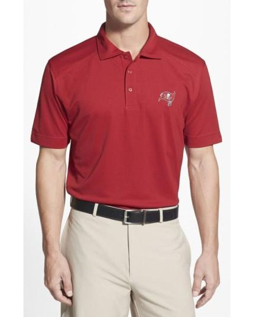 Cutter & Buck   Red 'tampa Bay Buccaneers - Genre' Drytec Moisture Wicking Polo for Men   Lyst