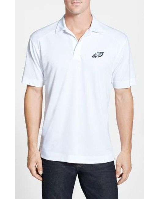 Cutter & Buck | White 'philadelphia Eagles - Genre' Drytec Moisture Wicking Polo for Men | Lyst