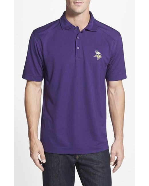 Cutter & Buck | Purple 'Minnesota Vikings - Genre' Drytec Moisture Wicking Polo for Men | Lyst