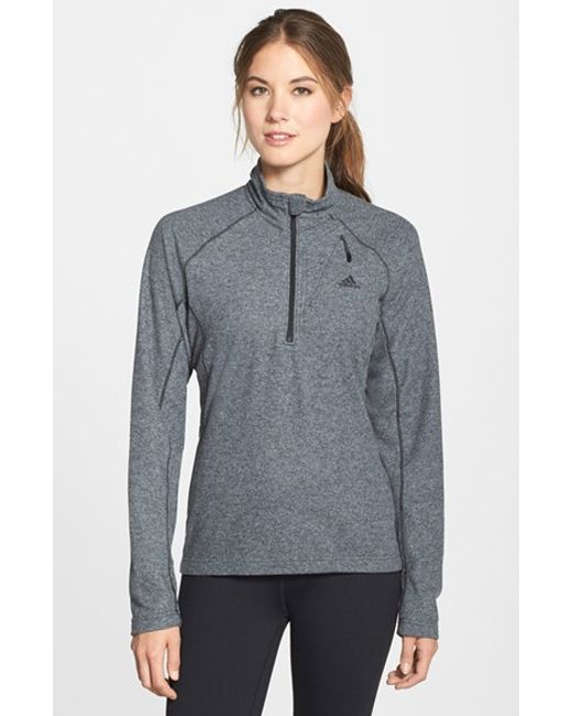 Adidas Originals | Gray 'reachout' Half Zip Hiking Top | Lyst