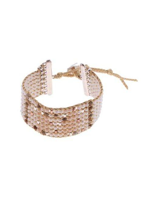Nakamol - Yellow Beaded Cuff Bracelet - Lyst