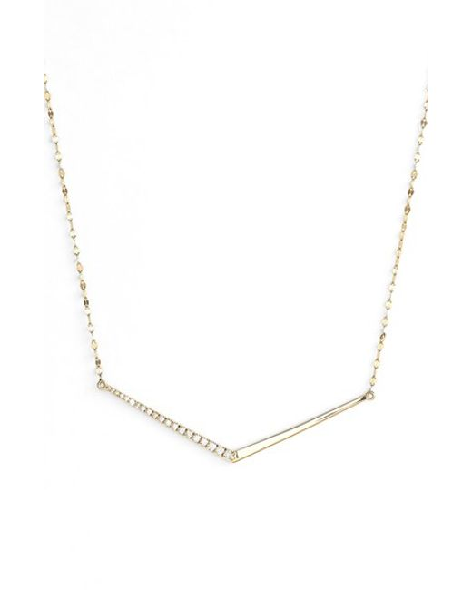 Lana Jewelry | Metallic 'mirage' Edge Diamond Pendant Necklace | Lyst