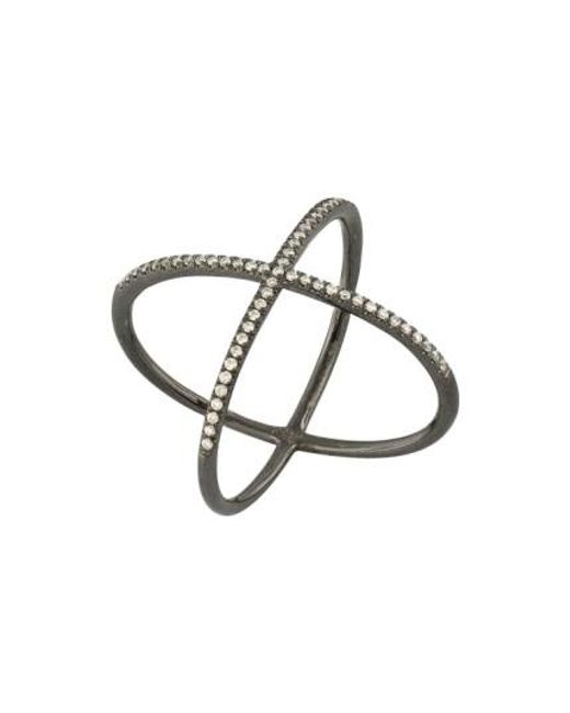 Bony Levy | Black Crossover Diamond Ring (nordstrom Exclusive) | Lyst