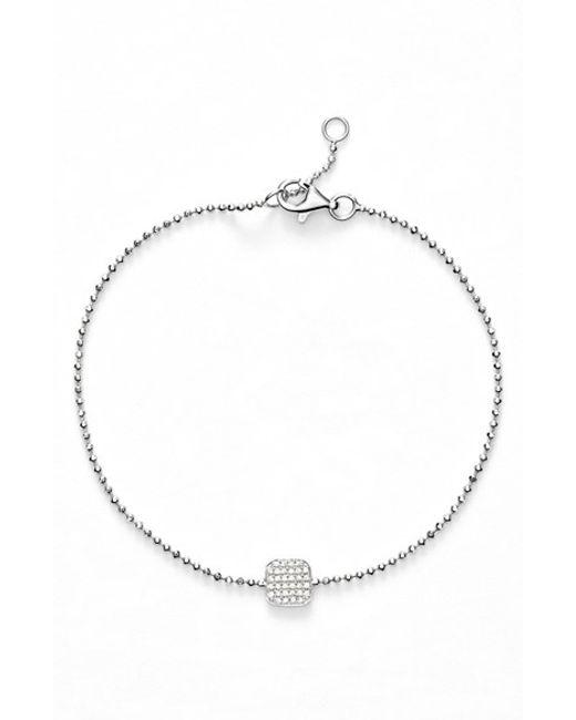 Bony Levy | White 'aurora' Diamond Pave Square Bracelet (nordstrom Exclusive) | Lyst