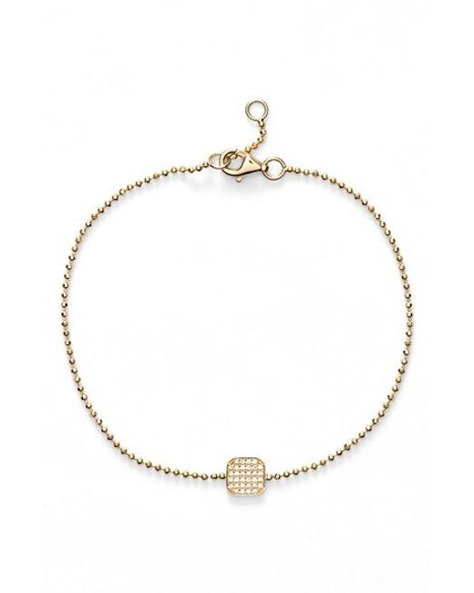 Bony Levy | Yellow 'aurora' Diamond Pave Square Bracelet (nordstrom Exclusive) | Lyst
