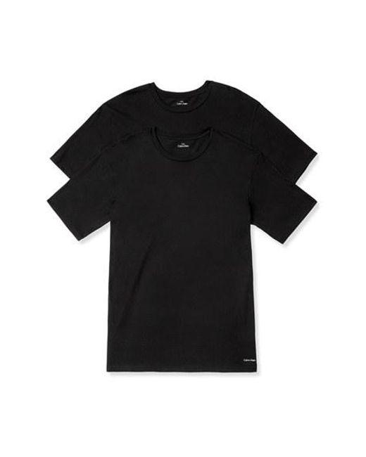 Calvin Klein | 2-pack Crewneck T-shirt, Black for Men | Lyst