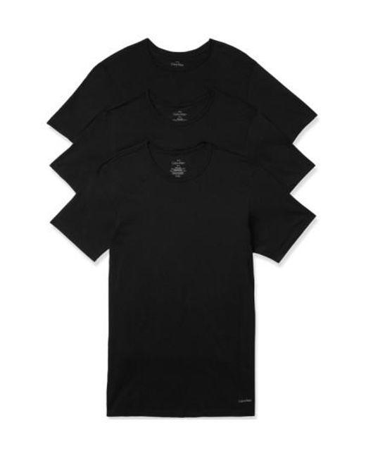 Calvin Klein   Slim Fit 3-pack Cotton T-shirt, Black for Men   Lyst