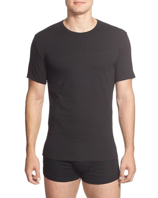 Calvin Klein | 2-pack Stretch Cotton Crewneck T-shirt, Black for Men | Lyst