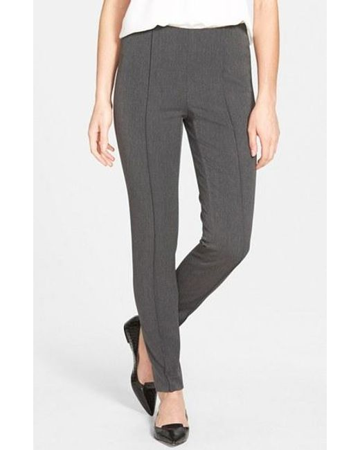Vince Camuto | Gray Side Zip Stretch Twill Pants | Lyst