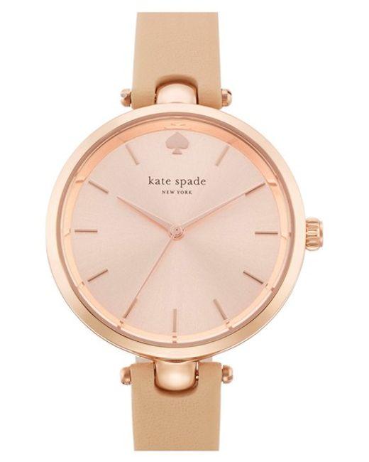 kate spade new york   Pink 'holland' Round Watch   Lyst