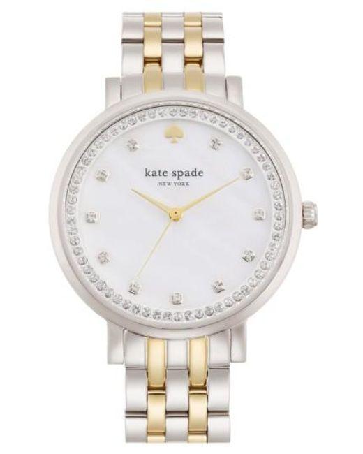 Kate Spade | Metallic 'monterey' Crystal Dial Bracelet Watch | Lyst