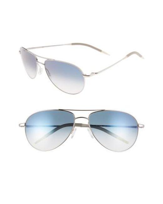 Oliver Peoples | Metallic 'benedict' 59mm Gradient Aviator Sunglasses | Lyst