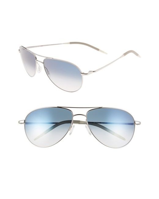 Oliver Peoples | Metallic 'benedict' 59mm Gradient Aviator Sunglasses | Lyst
