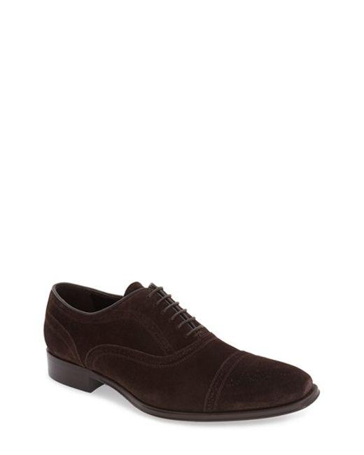 To Boot | Brown 'david' Cap Toe Oxford for Men | Lyst